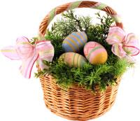 Glad påsk-korg