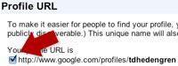 Aktivera Google-profil-länk