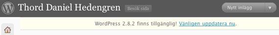 WordPress 2.8.2 ute nu