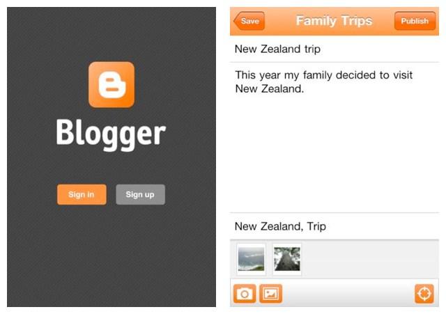 Blogger-appen